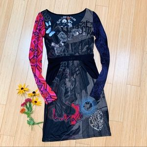 DESIGUAL long sleeved knit dress, S.